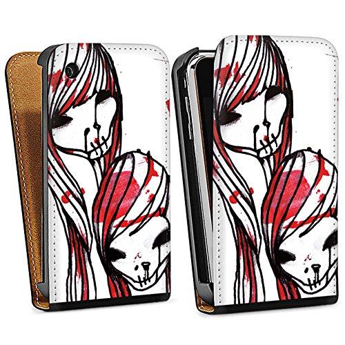 Apple iPhone 5 Housse Étui Silicone Coque Protection DeadHoxtonGirls Gloria saignant Sac Downflip noir