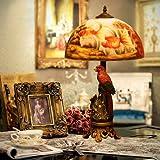 Scorfano pappagallo arte dipinta lampada da tavolo pittura su vetro