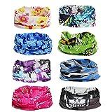 Abcsea 8PCS Reitermaske, Outdoor-Gesichtsmaske, Kopftuch, Saughandtuch und Sonnenschutzhelm, bandanas multifunktionstuch