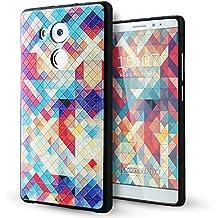 Huawei Mate 8 Funda,Lizimandu 3D Patrón Protectiva Carcasa de Silicona Gel TPU estrecha Case Cover Para huawei mate8(Colorful Estopa/Colorful Pizzle)