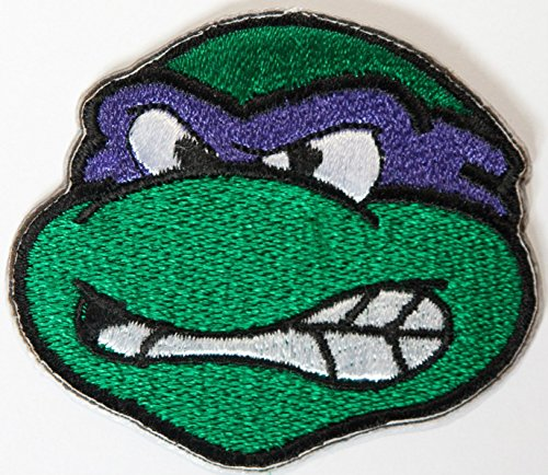 Donatello Tmnt Embroidered Iron on Patch/Donny violett Teenage Mutant Ninja Turtles Badge Kostüm Cosplay (Tmnt Krang Kostüm)