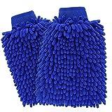 ecom delivery® ⭐⭐⭐⭐⭐ Autowaschhandschuh Mikrofaser zur Autoreinigung (2 Stück) | Wasserdicht | Auto-Waschhandschuh zur Autowäsche (2X Autowaschhandschuh)