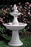 Steinbrunnen Brunnen aus Betonwerkstein inkl. Pumpe und Zubehör Säulenbrunnen Kaskadenbrunnen