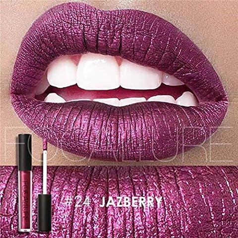 Vovotrade Mode Barres à Lèvres Cosmétiques Femme Sexy Lèvres Métalliques