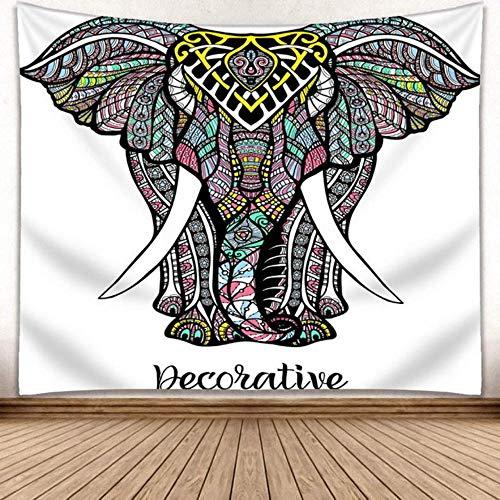 ayuxin Tapiz de Elefante Mandala Tapiz Indio Colgante de Pared Decoración Impresa Estera de Playa