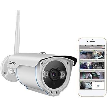 Sricam Caméra IP, Caméra de Surveillance HD Wifi Caméra de Sécurité  Extérieure et Intérieure 720P, Etanche IP66  Vision Nocturne  Détection de  Mouvement ... 1568a1dfe0ed