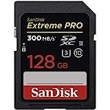 Sandisk SDSDXPK-128G-GN4IN Extreme Pro Tarjeta de Memoria SDXC de 128 GB (300 MB/s, UHS-II, Class 10 y U3), Black