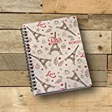 #3: Notebook | Eiffel Tower Printed Note book | Designer Wire Bound Ruled Paper Sheets Personal and Office Stationary Notebooks Diary-1 Piece (170 Pages)