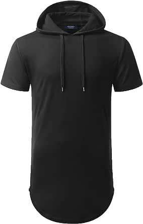 AIYINO Mens Hip Hop Long Sleeve/Short Sleeve Pullover Hoodies t Shirts