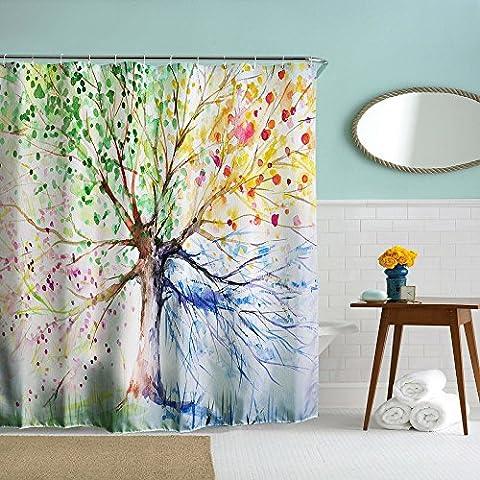 Beddingleer Flora Arbre 180cm x180cm étanche et Antimoisissure Tissu de