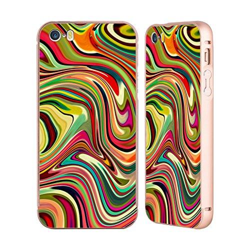 Ufficiale Shelly Bremmer Dopa Astratto E Vivido Oro Cover Contorno con Bumper in Alluminio per Apple iPhone 5 / 5s / SE Entusiasto