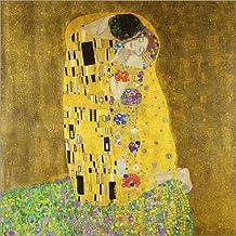 Cuadro sobre lienzo 40 x 40 cm: The kiss de Gustav Klimt - cuadro terminado, cuadro sobre bastidor, lámina terminada sobre lienzo auténtico, impresión en lienzo