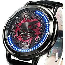Sunkee New Tokyo Ghoul Kaneki Ken LED Touchscreen Electronic clock Waterproof cosplay watch