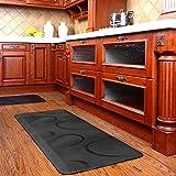 Chastep Antimüdigkeits Komfortmatte Steh-Bodenmatte ergonomische Matte für Arbeitsplätze ,Stehschreibtische, Küchen und Bad Anti-Ermüdungsschicht (Schwarz)