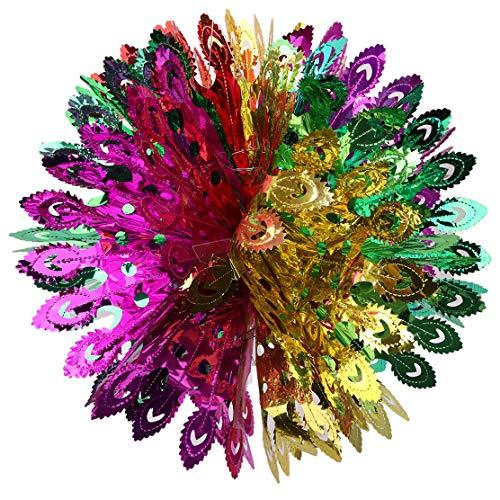 YSINFOD Bunte Blume Ball Party Dekoration Weihnachten Decke Hängende Kugeln Dekoration für Party Geburtstage Festivals Karneval Graduation Christmas