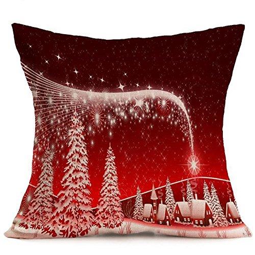 AchidistviQ Weihnachten Santa Claus Deer Print Kissenbezug Kissen Case Square Auto Home Decor 27#