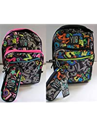 8d1d12599c Seven Yub Zaino Big Plus Graffiti + Astuccio Ovale Organizzato - School  pack Boy o Girl