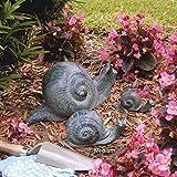 Design Toscano Schnecken, Gartenstatue aus Bronzeguss: Groß