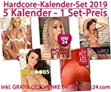Kalender Set 2019 INKL. Geschenk im Paket! - Hot Ass, Big Boobs, Sexy Girls, Hot Girls, Porn Kalender 2018 Erotik Kalender Wandkalender Set Erotikkalender Neuausgabe 2019 Wandkalender DIN A3