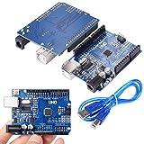[Sintron] UNO R3Rev3Board Development Board ATmega328P CH340G AVR Arduino Kompatibel Board für Arduino Robotik CNC DIY Kit + USB-Kabel