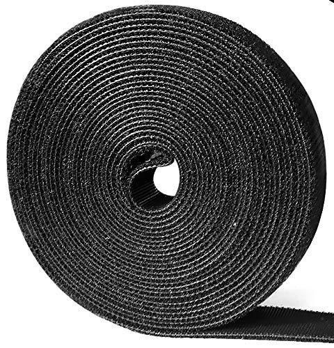 Heze Kabelbinder, wiederverwendbar, Nylongewebe, Klettverschluss, 15,2 x 1,3 cm, 50 Stück 15ft -