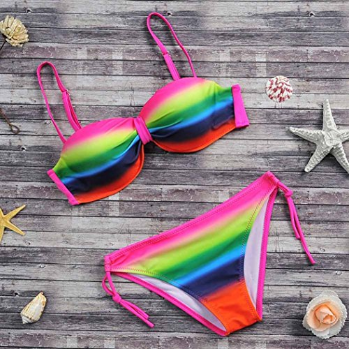 2017 Maillot de Bain, Xinan Femmes Swimwear Bikini Set Sexy Push-up Padded Bra Bikini Multicolore