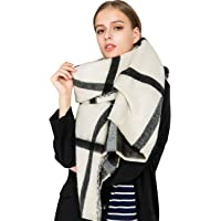 Alleza Sciarpa Invernale Donna Cachemire Calda Stole Scialle Motivo a Lattice Exlarge 200 * 80cm