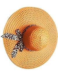 2f501bf8ed6 Lidahaotin Women Summer Straw Wide Brim Hat Girl Travel Beach Fishing  Sunshade Panama Cap Lady Outdoor