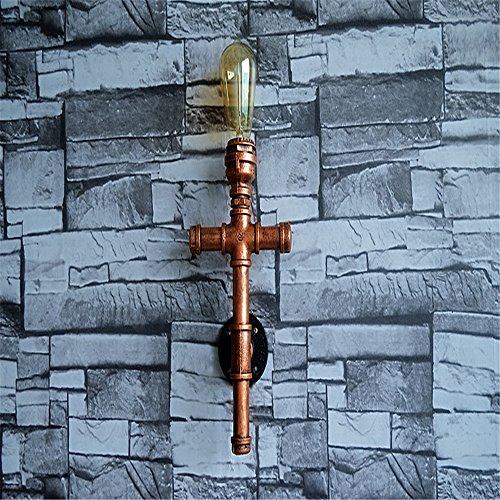 E27 Industrie-Handmade Eisen Kruzifix Wasser Pipe Wall Lampe Cafe Bar Club pub Motel Restaurant Garage Keller Mauer Licht Indoor zuhause Dekor Vintage Wandlampen,9*17*34cm