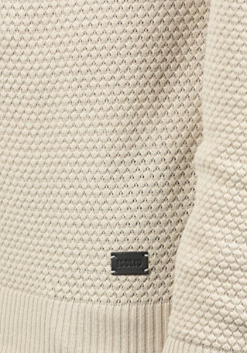 SOLID Karl O-Neck Herren Strickpullover mit Rundhalskragen aus 100% Baumwolle Sandshell (0265)