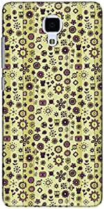 The Racoon Grip printed designer hard back mobile phone case cover for Xiaomi Mi 4. (abstract v)