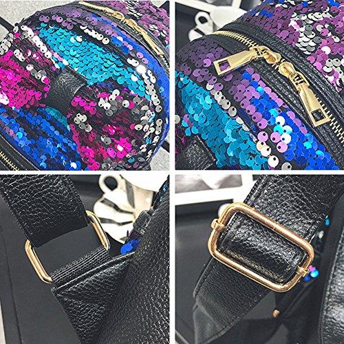 Yiwa , Damen Rucksackhandtasche Blau