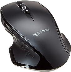 AmazonBasics - Ergonomische kabellose Maus mit Schnell-Scrolling, normale Größe