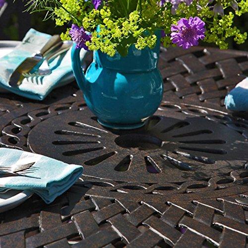 lazy-susan-mia-90-cm-runder-gartentisch-mit-2-stuehlen-gartenmoebel-set-aus-metall-antik-bronze-emma-stuehle-gruene-kissen-3