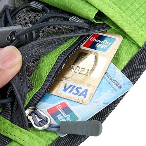Sport Hüfttasche,Außen Camping Hüfttasche Sport wasserdicht Hüfttasche mit Kettle Tasche Laufen Gürteltasche Pouch Gürteltasche für Wandern Laufen Radfahren Camping Reise Klettern Blau
