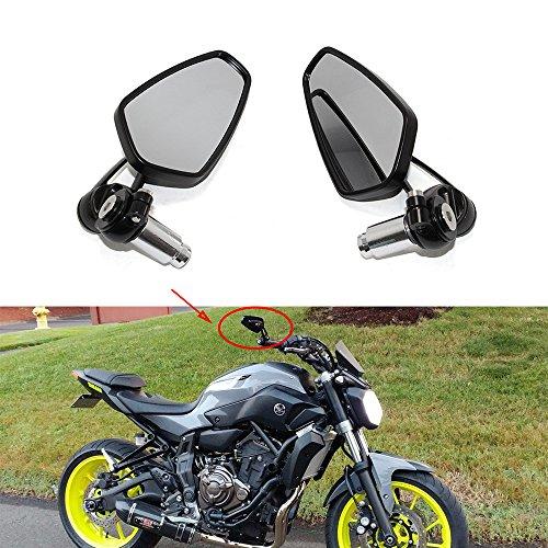 1 Par de universal 7/8' 22 mm Negro Redondo Espejos Reflectores Motocicleta Espejos Retrovisores Para Honda Yamaha Suzuki
