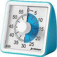 POLAME Timer analogico Blu  Timer per Il Conto alla rovescia dello Studio  Orologio Silenzioso  Strumento di Gestione del Timer da Ufficio 60 Minuti per Adulti e Bambini