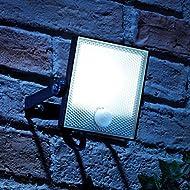 Auraglow 10W LED détecteur de mouvement PIR activé Projecteur de sécurité extérieure Slim Wall Wall Light - 150w EQV