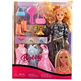 ROTLE Beautiful Fashion Doll Set with Ou...
