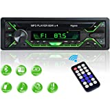 Aigoss Autoradio Bluetooth Stereo Auto 1 Din Car Radio FM Ricevitore 60W x 4, 5 Luci a Colori e Telecomando, Supporta MP3/ USB/SD/TF/AUX/File