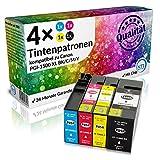 N.T.T.® 4 Tintenpatronen kompatibel zu Canon PGI 1500 MAXIFY MB2050 Canon MAXIFY MB2350 Drucker (1 Schwarz,1 Cyan,1 Magenta,1 Gelb)