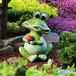 gartenfrosch deko figur 41cm garten figur deko frosch gro f r den garten garten. Black Bedroom Furniture Sets. Home Design Ideas