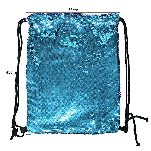 3d27749499 Eyourlife Mermaid Paillettes Zaino con lacci Glittering Outdoor tracolla,  Winmany Magic Reversibile Glitter Coulisse Zaino, Moda Bling Shining Bag,  ...
