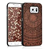kwmobile Samsung Galaxy S6 / S6 Duos Hülle - Handy Schutzhülle aus Holz - Cover Case Handyhülle für Samsung Galaxy S6 / S6 Duos