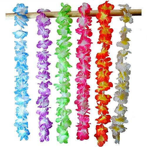 ropischen Hawaiian Leis halsketten künstliche Blumen Luau Blumen Party Supplies (zufällige Farbe) ()