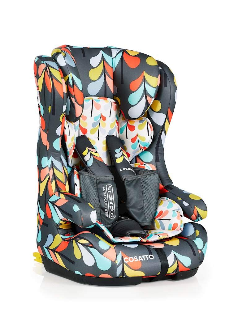 Cosatto Hubbub Isofix Anti-Escape Group Carseat Cosatto Hubbub's that exceptional creature - a group 123 car seat with ISOFIX; this means you can just click and go-no reinstalling; suitable from 9 kg to 36 kg (group 123) Hubbub incudes patented five point plus anti-escape system, reduces harness escapes by 90 percent Side impact protection, with six position headrest; hubbub grows with your child; out pop-off squishy seat liner grows too; it is also reversible 3