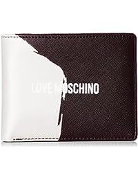 Portafogli Embossed Pu Bianco, Womens Clutch, White, 3x10x20 cm (B x H T) Love Moschino