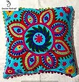 Suzani Designer Home Decor Floral Kissen Fall Indische Handarbeit Kissenbezug Dekorative Sofa Boho...