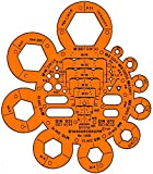 Graphoplex Track Nuts/Bolts Clear Orange