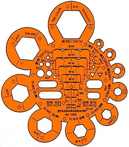 Graphoplex Trace écrous/boulons Orange Transparent